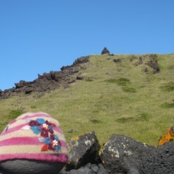 even the rocks have hats