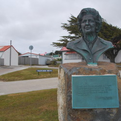 They love Maggie in the Falklands