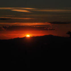 sunset from barbarino val d'elsa