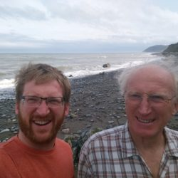 Dad and I on Shankill beach