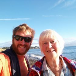 mum and I on the beach